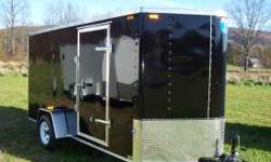 Enclosed Trailer...Ramp door, side door, electric brakes, 3500 lb. GVW, with L.E.D. lights...Price does not include taxes or DMV fees...Call: 607-539-3330  Location: Brooktondale