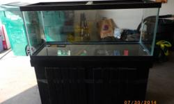 """18"""" wide/24"""" deep/48"""" long and holds 75 gallons. Used only for fish one year and has absolutely no leaks or holes. It is in new condition. It is cleaned and ready for pick-up in our garage! The value"""