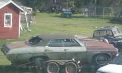 "Parting out a ""70"" chevy 4 dr hard top. Good windshield, 12 bolt rear end, doors usable, pwr windows, air con parts, cruise parts, good rad support, hub caps, head lamp bezels, grill. some crome piece"