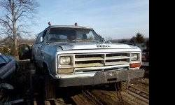 Parting out 89 rancharger. 318 motor quit running. This is a standard 4 speed four wheel drive charger. many good body parts and good interior (except driver seat has tears). Has a factory made winch