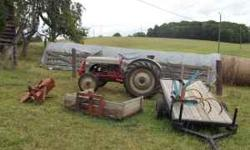 Tractor in good running condition. I have added a number of new parts. Recently purchased other tractors, and do not need this one. For that price there are a number of additional pieces: turning plow