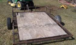 small l 8x5 lawn mower trailer price is 225 firm 319-457-5755 call anytime after 4pm Location: washington, ia