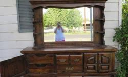 Ivory White Antique Glazed And Distressed Dresser Hutch Buffet For Sale In Beaverton Oregon