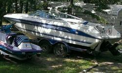 '91 Sea Ray, only 250 hrs, cuddy Cabin,350 Vortec,Inboard,Outboard. Like new,,cover, trailer,lots of extra's, our loss is your gain. Great Price. Well maintained. 918-9515775. For info