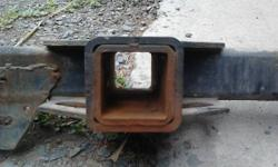 Factory hitch from a 98 Dodge Ram 3500 truck. Had one corner that split and I welded it back up. I likewise added some additional reinforcements at the rear at the exact same time. Has some rust, howe