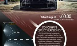Are your headlights scratched or discolored? Do they seem to lack the brightness they once had? Before you replace those expensive headlights, feel free to contact me for a quality headlight restorati