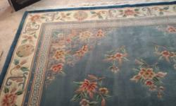 9x12 CHINESE AUBUSSON SUPER FINE 100% WOOL ORIENTAL AREA RUG - ESTATE ITEM From a smoke-free home. Purchased last February for $749.00, selling for $500.00. Rug was cleaned Professionally by the selle