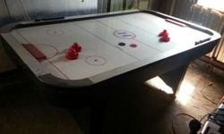 Harvard Air Hockey Table. Been stored in yard bar. Requirements good cleaning but works and fun to play! Asking $100 Call or text 2lO-99O-59lO.