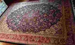 Remarkable Handmade 100 % Wool Tabriz Rug more than likely made in India. The Tabriz design stemmed from the city of Tabriz, the capital city of East Azerbaijan Province in north west of Iran. This co
