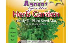 We have selected some of the most used savory herbs for your garden. Easy to plant and grow, you should have many wonderful meals seasoned with your fresh herbs. Contains Basil, Oregano, Cilantro and