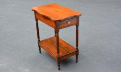 """ANTIQUE 1800's END SIDE TABLE WITH DRAWER Approximate Size: 30"""" High 17"""" Wide 27.50"""" Long Antique end or side table with hand cut dove tailed drawer. This piece dates back to the 1800's. It is in very"""