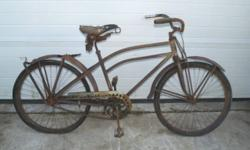 I have a collection of vintage and antique bicycles, tricycles and a peddle tractor. Send me a message with your interest. Thank you in advance. #1 - Late 20's- early 30's rare Mens, Wards Hawthorn, b