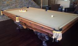A traditional Brunswick Balke Collender Co. pocket billiard table in the famed Monarch model manufactured circa 1880. These were the billiard tables owned by the great Robber Barons like Cornelius Van