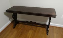 I have an Antique Empire Mahogany Console Table, Circa 1815 for sale. Considering it is approximately 200 years old to the best of my knowledge, it is in very good condition for the age. I am asking $