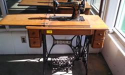 Singer Treadle Sewing machine in beautiful condition West Maple Habitat ReStore 10910 Emmet Street, Omaha, NE 68164 Northwest of 108th and Maple Streets HOURS: Monday  Saturday: 9:00am  6:00pm; Sunday