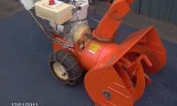 runs/works well heavy duty older machine electric start tire chains $250/bo 860 841 1835