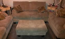 Ashley Furniture still in great condition after I believe 7 years. Sofa, Love Seat and over sized chair with ottoman. Good furniture lasts forever. Were ready for new furniture, and this furniture is