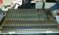 This is a perfect starter mixing board for someone starting out and trying to record some stuff with a band. Every nob is still there and as far as I know it works perfect. Top of the line in the 1980