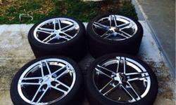 authentic factory z06 corvette chrome rims and tires. these were an extra set off of my dads corvette that he just sold and be no longer has use for them so they must go. will negotiate serious offers