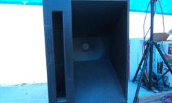 "TWO BASS CABINETS WITH 18"" ELECTROVOICE SPEAKERS..... 1 SPEAKER MAY NEED RE-CONED.. EACH SPEAKER RATED AT 225 WATTS RMS... CABINET MEASUREMENTS ARE 39"" X 28"" X 26"""