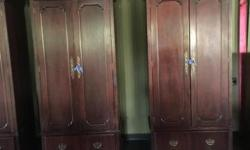 Beautiful Antique Armoire/wardrobe closet. $150 ea. Call , Text or Email me. Thank's Misty 832-384-6188 or 281-446-4484