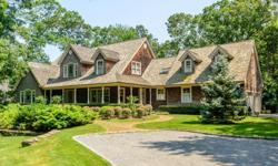 Exquisite location in the nearby hills of Bridgehampton, this property offers an immaculate 5-bedroom residence on almost an acre with a lush landscaping. A gravel drive approaches both the front cove