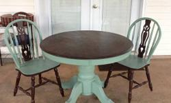 Vintage dining room table chairs china cabinet for sale for Furniture 4 less muscle shoals al