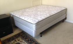 Sealy Queen sized Lake Mohave bed with box springs and frame. Excellent condition, 3 months old. Company bed mattress. Design 546873 Call Jim at -LRB-615-RRB-839-4480.