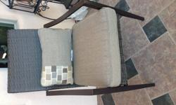 This 12 piece patio set is brand new, never used.There are 6 bottom chair cushions that measure 2   * D X 20   *W X 20  *L.6 accent cushions measure 11 W X 19 L.This natural cushion set will add a tou