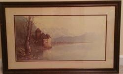 """Ben Hampton Print - Signed, numbered and framed Sea of Galilee -- 20"""" x 33"""" - $125.00  Castle of Chillon - 21"""" x 33"""" - $125.00  Ben Hampton Print - Signed and framed Reflecting Sycamores -- 20"""" x 33"""""""