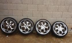 Hi I am sell 4 Bentchi chrome wheels 20x8.5 with Achilles Tires: ATR SPORT 245/30ZR20 90Wxl BW . Asking 1,100 or best offer. Cash only. I originally paid over $1,700. They are in excellent condition m