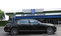 This 2009 Bentley Continental Flying Spur 4dr Speed features a 6.0L 12 CYLINDER 12cyl Gasoline engine. It is equipped with a 6 Speed Automatic transmission. The vehicle is Beluga with a Beluga Leather