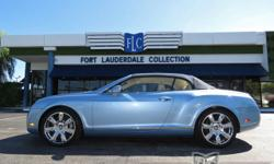 This 2009 Bentley Continental GT 2dr GTC Convertible features a 6.0L 12 CYLINDER 12cyl Gasoline engine. It is equipped with a 6 Speed Automatic transmission. The vehicle is Silver Lake with a Magnolia