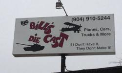 Welcome to Big Bill's Diecast - Downtown St. Augustine - Over 8, 000 items in stock Everyday!!  The Largest Diecast Shop in St John's County!!  Collectors will find the largest selection of Vintage an