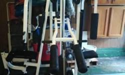 Moderate use, Looks good, works great. Comes with chart on how to use attachment to get more out of the pulleys. Has over 17 different ways to benefit from this machine. Its was worth $1500 new. I hav