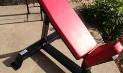 Bodymaster Adjustable Incline Bench. It is a commercially developed bench. The back adjusts from approx. 40 to approx. 85 degrees of incline. You can utilize this bench by itself or with a complimenta