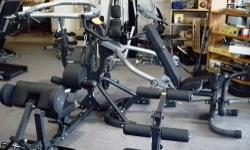 Just got this unit in from a home owner, its in great shape. Includes the squat press or leg press station. Customer paid over $2000 for the gym. Were selling it for $1295 See this Piece at: Big Fitne