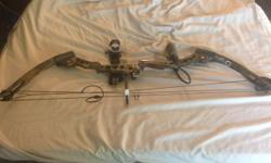 """Left handed Mathews Solo Cam Conquest 3 Mini / Max, $400 OBO Item Identifiers Brand: Mathews Design: Conquest 3 Characteristic Bow Type: Compound IBO Rating 310 fps Axle-to-Axle 41"""". Brace Height 7""""."""