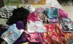 I have box full of girl clothes sizes 5-6x $20 40+ pcs  Box with 50+ pcs of girl size 7/8 clothing $25  - the pics are just a few of clothes you get in the boxes.   The my first birthday set is 18 mon