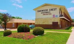Visit us at www.OakwoodCrestApartments.com for more information and photos. You can watch video in Photos & Videos section.** 1Br/1Bth: WEEKLY rate from $229 (basic) to $249 (upgraded). Larger unit +$