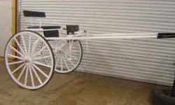 BEAUTIFUL white show cart. This cart is suited best for a single draft horse. This very bright white show cart will look beautiful behind any color horse. Show stopper. Visit us at carolinacarriagesup