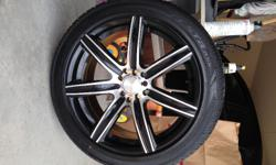 For Sale: One (1) Brand new, never used Etsa ASX 225/45 R18 tire AND rim. It is a 5-lug rim and fits Hyundai Sonatas. I paid $700.00. They were bought new. I ended up selling the car and don't need th