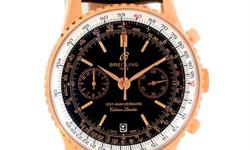 Case:18K rose gold case 43.0 mm in diameter.Pushdown crown and pushers.Facet-edge lugs. Movement:Automatic self-winding officially certified chronometer movement.Chronograph function.Gilt