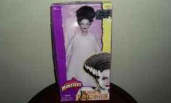.Bride of Frankenstein Hasbro 1998 Mint in the original box. MY DAUGHTER HAS BEEN COLLECTING FOR THE PAST 12 YEARS WE HAVE ALL KINDS OF BARBIE DOLLS AND OTHER DOLLS PLEASE CALL I DO NOT CHECK MY E-MAI