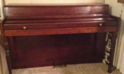 Gently used piano has minor scratches. There are a few keys that stick, so needs to be cleaned. Needs to be tuned.