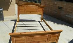 In good condition, headboard, footboard and frame.