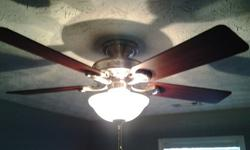 """3 Fans - 3 speed/2 Directional Airflow with 5 Blades- 52"""" ceiling fans with light - $50 Each OR $130 for All. Please come prepared with tools/ladder, to disconnect the fans, at purchase. Text or Email.* Harbor Breeze - 52"""" Model #E-BFT52CB5C1 - $50*"""