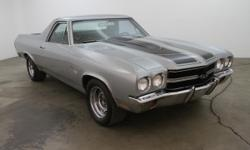 1968 Chevrolet El Camino SS 396 1968 Chevrolet El Camino SS 396 in silver with a black racing stripe and black interior. Comes equipped with an automatic transmission and air conditioning. Very clean