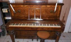 For Sale Circa 1880-1900 burled walnut upright piano. It was made for King Edward VII when he was Prince of Wales. For more info email, call, or text. Make me an offer. Need to sell ASAP