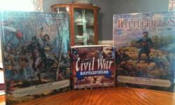 "These are 2 books ""Commanders of the Civil War"" and ""Battle Fields of the Civil War"" and a VHS video collection ""Civil War Battle Fields"" 7 VHS tapes collection. .if interested please call Andrea @ 54"